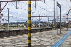 Jundiai Station. Jundiai, Brazil, March 03, 2017. Boarding platform of line 8 Diamond of CPTM, Paulista Company of Metropolitan Trains, at Jundiaí Station Royalty Free Stock Image