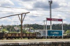 Jundiai Station. Jundiai, Brazil, March 03, 2017 Stock Photos