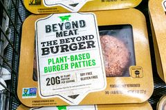 Free June 25, 2019 Sunnyvale / CA / USA - Beyond Meat Burger Packages Available For Purchase In A Safeway Store In San Francisco Bay Royalty Free Stock Photos - 152041468