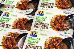 Free June 25, 2019 Sunnyvale / CA / USA - Organic Plant Based Burger Patties, Produced By Organics And Competing With Beyond Meat; Royalty Free Stock Images - 154859239