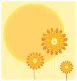 June Background. A June calendar background or wallpaper Royalty Free Stock Photo
