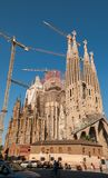 La Sagrada Familia Cathedral in Barcelona stock image