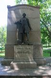June 1 2016 Boston MA - a Statue of Wendell Phillips stock images