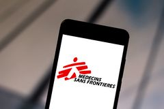June 1, 2019, Brazil. In this photo illustration the Doctors Without Borders logo is displayed on a smartphone