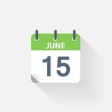15 june calendar icon. On grey background Stock Photos