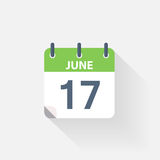 17 june calendar icon. On grey background Stock Photography