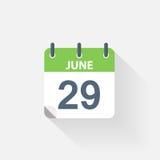 29 june calendar icon. On grey background Stock Photos