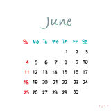 June 2017 Royalty Free Stock Photography
