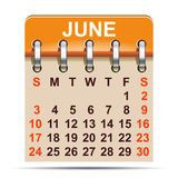 June calendar of 2018 year -. June calendar of 2018 year – stock Stock Photography