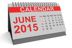 June 2015, desk calendar. Isolated on white background Royalty Free Stock Photography