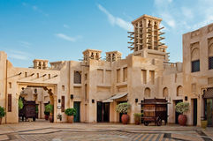 JUNE 3: The famous hotel and tourist district of Madinat Jumeirah Stock Images