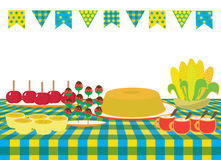 June feast food royalty free illustration
