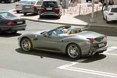 Kiev, Ukraine. June 10, 2017. Ferrari California in motion stock photo