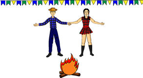 June fest. Is a popular party in Brasil Royalty Free Stock Photography