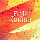 June festival of brazilian festa junina background. Vector Stock Image