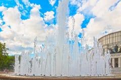 June 24, 2015: Fountain near Opera Theatre, Minsk Stock Photos
