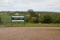 Parks Canada Grand Pre Sign royalty free stock image
