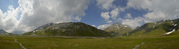Swiss Alps High Plateau Panorama Royalty Free Stock Image