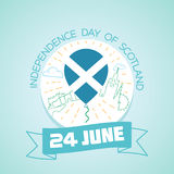 24 june  Independence Day of Scotland Royalty Free Stock Photos