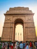 21 JUNE 2018, INDIA GATE, NEW DELHI - INDIA. People visit India Royalty Free Stock Photography