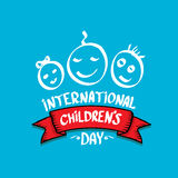 1 june international childrens day background. Happy Children day greeting card. kids day poster royalty free illustration