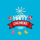 1 june international childrens day background. Happy Children day greeting card. kids day poster Stock Image