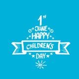 1 june international childrens day background. Happy Children day greeting card. kids day poster stock illustration