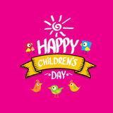 1 june international childrens day background. Happy Children day greeting card. kids day poster Stock Images