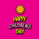 1 june international childrens day background. Happy Children day greeting card. kids day poster Royalty Free Stock Photo