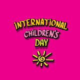 1 june international childrens day background. Happy Children day greeting card. kids day poster Stock Photo