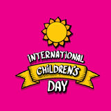 1 june international childrens day background. Happy Children day greeting card. kids day poster Stock Photos