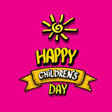 1 june international childrens day background. Happy Children day greeting card. kids day poster Royalty Free Stock Images