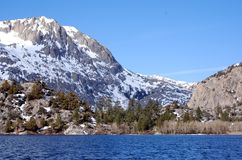 June Lake. In the High Sierra Nevada Mountains CA Stock Image