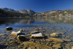 June Lake in East California Stock Image