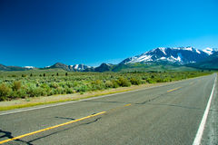 June Lake Loop highway Stock Images