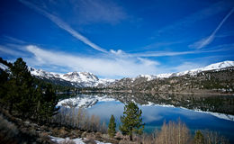 June Lake Wreathed in Snow Stock Photography