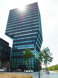 The iconic Imec Tower in Leuven stock photos