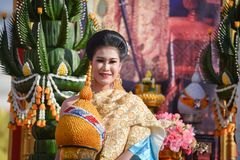 Phi Ta Khon parade Festival 2018 Royalty Free Stock Photo
