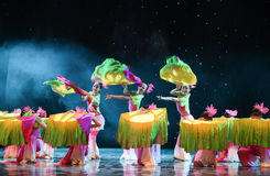 June lotus-The national folk dance Stock Photo