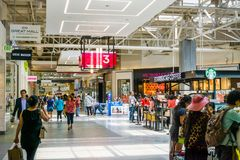 June 5, 2018 Milpitas / CA / USA - People shopping at the Great Mall, San Francisco bay area royalty free stock photography