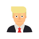 June 10, 2017. Modern vector illustration of a portrait of businessman and presidential candidate Donald Trump stock illustration