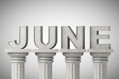 June month sign on a classic columns Stock Photo