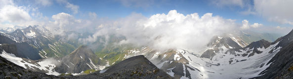 Swiss Alps Panorama Stock Images