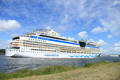 June 22nd, 2014. Velsen; the Netherlands: Aida Stella on North S Royalty Free Stock Photography