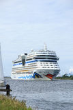 June 22nd, 2014. Velsen; the Netherlands: Aida Stella on North S Royalty Free Stock Photo
