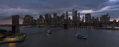 New York City Spectacular Sunset royalty free stock photo
