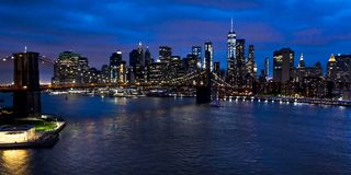 New York City Spectacular Sunset royalty free stock image