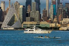 New York City and Hudson River Stock Photos