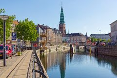 Construction in Copenhagen by Nikolaj royalty free stock photography