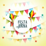 June party festa junina celebration greeting background. Vector Royalty Free Stock Images